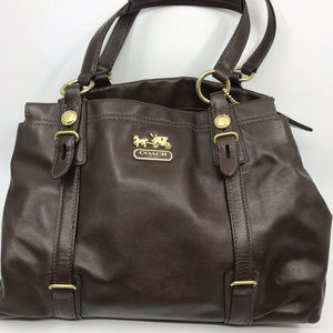 COACH L Brown Leather Shoulder Bag